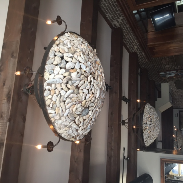 Oyster charleston south carolina oyster chandelier in downtown oyster chandelier at amen street mozeypictures Choice Image